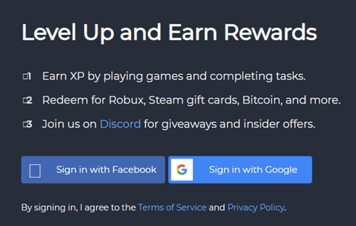 reward xp registration