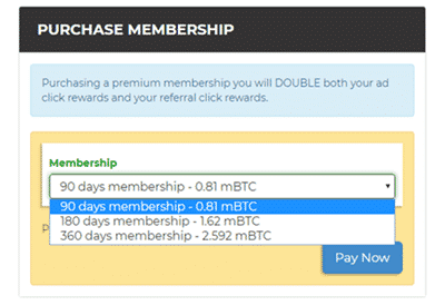 btcclicks membership upgrade