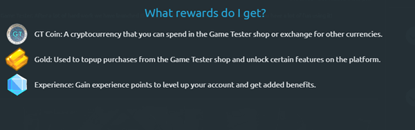 game tester rewards