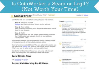 is coinworker a scam header