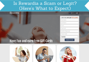 is rewardia a scam header