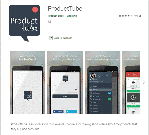 product tube app