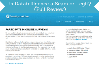is datatelligence a scam header