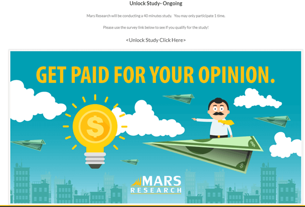 mars research paid studies