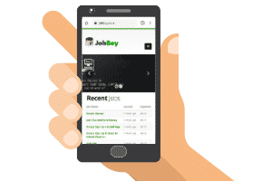 jobboy mobile site