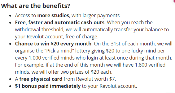 Testable Minds Verified Account Benefits