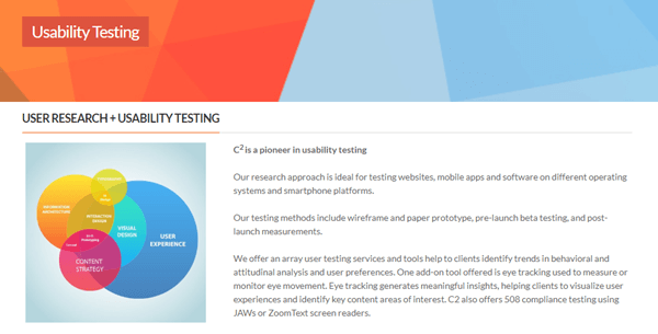 c2 consumer research usability testing