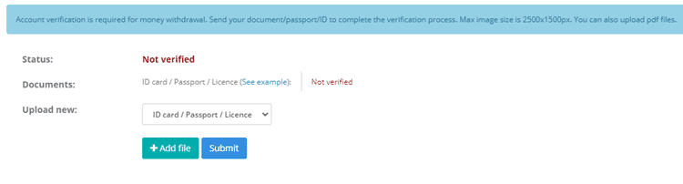 Account Verification For Earndoing Payments