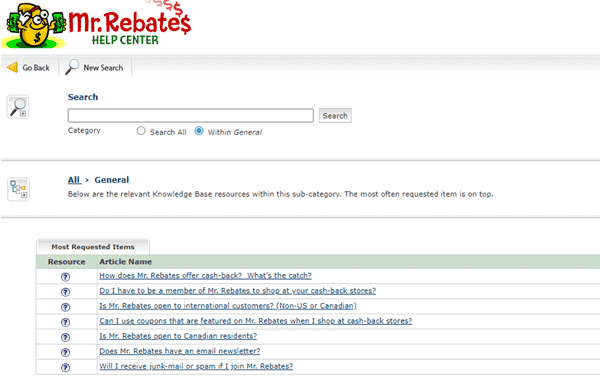 Mr Rebates Support Page 4