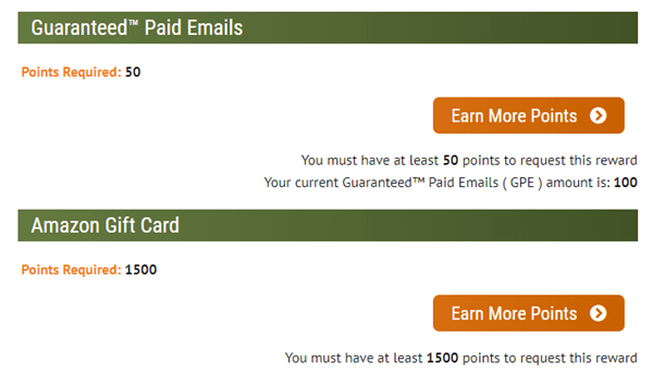 Points Redemption For Paid To Read Emails