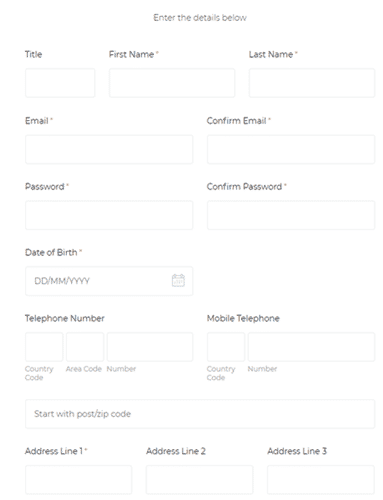 Clicks Research Registration Form
