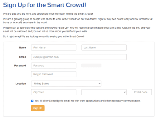 Smart Crowd Registration Form