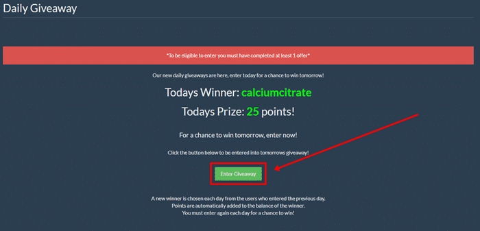 Daily Giveaway Of Giveawaypros