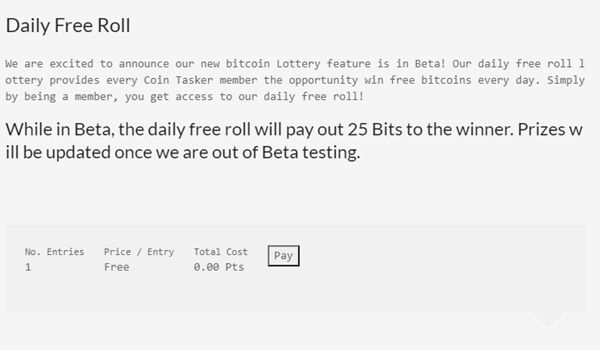 Daily Lottery Of Coin Tasker