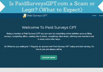 Paidsurveysgpt Com Review Header