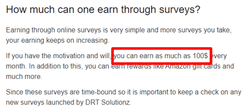 Earning Claim Of Drt Solutionz