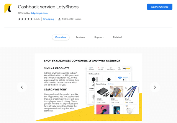 Chrome Extension Of Letyshops