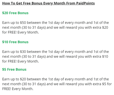 Bonuses From Paidpoints