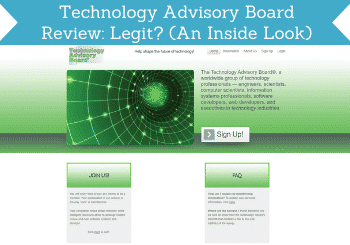 Technology Advisory Board Review Header