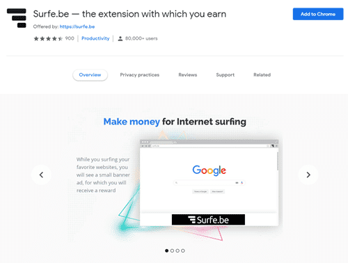 surfe be browser extension