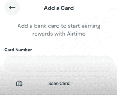 adding credit cards on airtime rewards