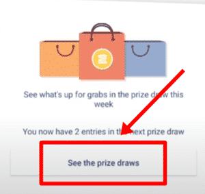 prize draw of shoppix