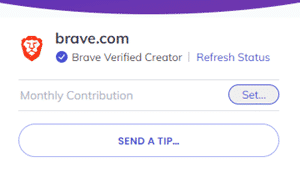 sending a tip with brave