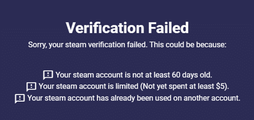 verifying your steam account
