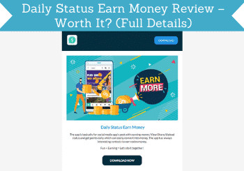 daily status earn money review header