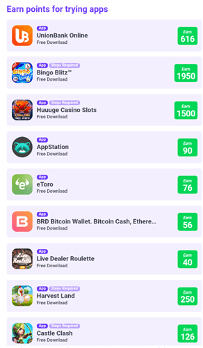trying apps on lootvalley