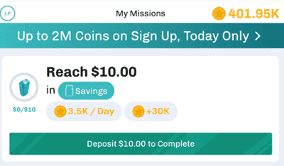 long game savings missions