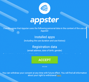 registration process of appster