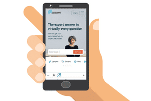 mobile site of justanswer